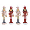 Nutcracker made of poly bordeaux, pink, 2 assorted
