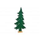 Fenyő fa törzsén, zöld filcből (Szé / Ma / Mé) 40x