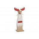 Espositore Alce in legno bianco (L / A / P) 14x33x