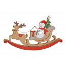 Carrozza a cavallo a dondolo in legno multicolore