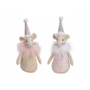 wholesale Joke Articles: Textile Mouse Pink / Pink 2- times assorted , (W /