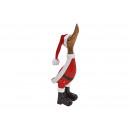 Großhandel Fashion & Accessoires: Laufente mit Weihnachtsmütze aus Mangoholz Rot ...