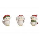 Téli madár Santa fehér kalapból, 3 színben
