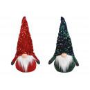 Imp flitter kalapban, piros, zöld textilből