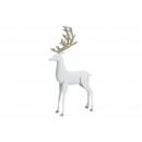 Cervo con glitter in metallo bianco (L / A / P) 21