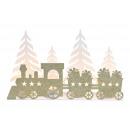 Porta tealight Treno natalizio per 4 lumini