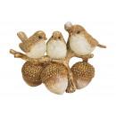 Gruppo di uccelli su un poli (L / A / P) 14x10x8c