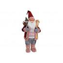 Święty Mikołaj z materiału tekstylnego, plastiku w