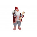 Santa Claus made of textile, plastic red, pink (W