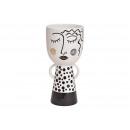 wholesale Flowerpots & Vases: Ceramic vase woman black, white (W / H / D) 14x29x
