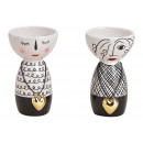 wholesale Flowerpots & Vases: Vase woman with heart pendant made of ceramic blac