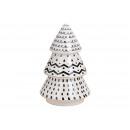 Abete in ceramica nero, bianco (L / H / P) 12x19