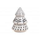 Albero di Natale in ceramica nero, bianco (L / H /