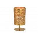 Lampion metalowy złoty (S / W / D) 13x25x13cm