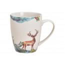 Mug mug in porcellana bianca (L / A / P) 12x