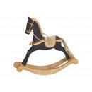 Cavallo a dondolo in legno nero (L / H / P) 29x27x