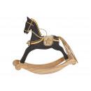 Cavallo a dondolo in legno nero (L / H / P) 21x20x