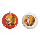Appendiabiti a sfera di Natale, Babbo Natale, deco