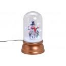 Carillon pupazzo di neve con luce, musica vortice