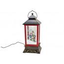 Lanterna carillon con luce, musica vortice di neve