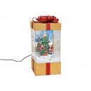 Carillon regalo con luce, musica vortice di neve