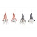 Fogas törpék flitter kalapban textil tűből