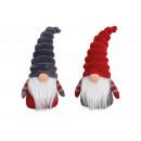 Elfo tessile rosso, grigio 2- volte assortito , (B