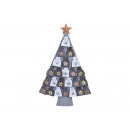 wholesale Home & Living: Advent calendar Christmas tree made of felt gray (