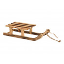 Brown wooden sledge (W / H / D) 31x7x12cm