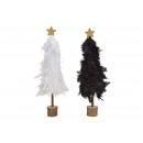 Albero di Natale in legno, bianco primaverile, ner