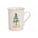 Mug Christmas tree Merry Christmas made of porcela