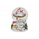 Carillon, globo di neve Nicholas su UFO in polieti