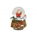 Carillon, globo di neve Nicholas in poli, vetro co