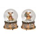 Carillon, globo di neve alce in polietilene, vetro