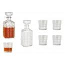 Set da whisky in vetro trasparente set da 5, botti
