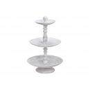 Etagere 3 tier made of wood white (H) 43cm Ø15cm /