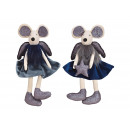 wholesale Joke Articles: Edge stool mouse made of textile blue 2- times ass