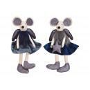 mayorista Articulos de broma: Taburete de ratón Edge fabricado en textil azul 2-
