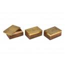 Portagioie orientale in legno, metallo dorato 3 vo