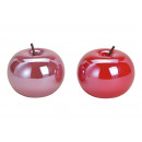 wholesale Artificial Flowers: Ceramic apple pink / red, 2- times assorted , (B /