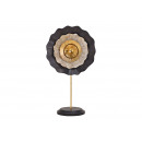Display Metal flower black, gold (W / H / D)