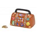 Borsa da viaggio salvadanaio in ceramica marrone (