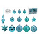 Set di palline di Natale in plastica turchese 111e