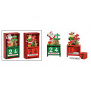 ingrosso Bambole e peluche: Calendario da tavolo Nikolaus, alce in legno, ross