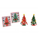 Christmas tree made of wood red, green 2- times as