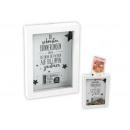 Großhandel Geschenkartikel & Papeterie: Spardose 2 in 1 aus Holz Weiß (B/H/T) 14x19x3cm