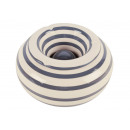 wholesale ashtray: Ashtray storm / stripe gray ceramic white (