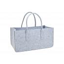 wholesale Decoration: Firewood bag made of gray felt (W / H / D) 50x26x2