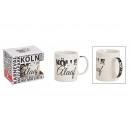 Mug Kölle Alaaf in porcellana bianca (L / A / P) 1