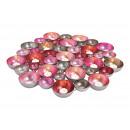 Ciotola / lanterna in metallo rosa / rosa, argento